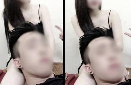 Hình ảnh nhạy cảm của thanh niên Hải Phòng bị hack nick Facebook.