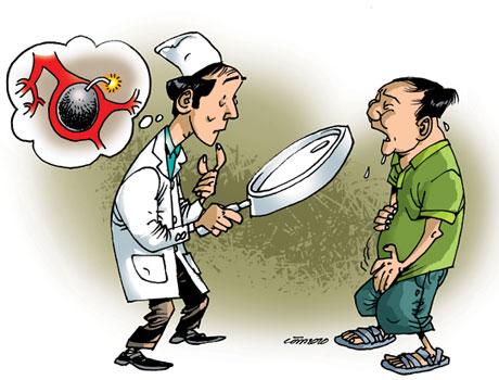 Bệnh lý dạ dày diễn ra dai dẳng, nếu không điều trị kịp thời, về lâu dài có thể dẫn đến các biến chứng, ảnh hưởng sức khỏe. tranh minh họa