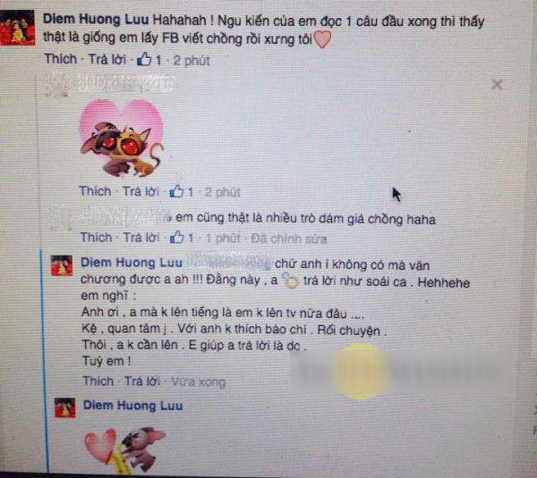 Hình ảnh chụp lại bình luận của Hoa hậu Diễm Hương về scandal liên quan đến Hà Hồ.