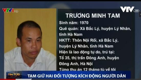 """Đối tượng Trương Minh Tam khai nhận Tam đã tham gia phong trào """"con đường Việt Nam"""". Ảnh chụp màn hình"""
