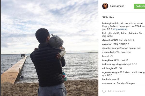 Không cần chụp ảnh mặt của hai cha con nhưng thông điệp của bức ảnh vẫn được truyền tải đầy đủ.