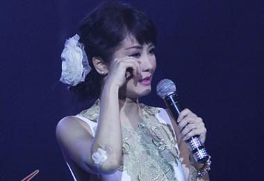 Hồng Nhung bật khóc trong đêm nhạc Thanh Tùng