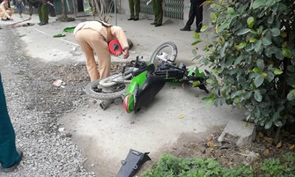Hiện trường vụ tai nạn giao thông ngày 24/2 tại xã Đoàn Đào, huyện Phù Cừ (Hưng Yên) khiến anh Duyệt tử vong được cho rằng: nguyên nhân do CSGT huyện này truy đuổi