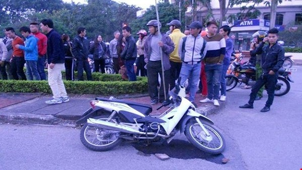 Vụ tai nạn ngày 18/11/2014 tại TP. Bắc Ninh do lực lượng công an trật tự truy đuổi khiến cho đôi nam nữ bị đa chấn thương