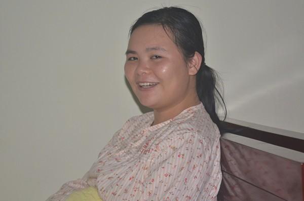 Các bác sĩ cứu em từ cõi chết trở về - Bệnh nhân Lương Thị Vân cười cho biết