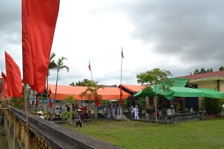 Tang lễ thượng úy Lam sẽ được tổ chức tại nhà văn hóa thôn Đào Lạng. Ảnh: ĐT