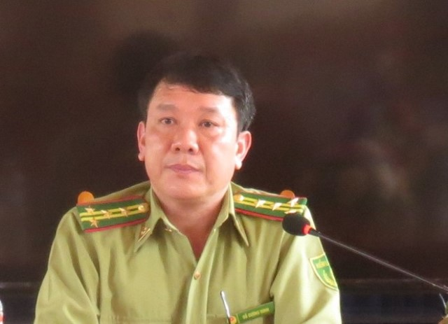 Ông Đỗ Cường Minh – Chi cục trưởng chi cục Kiểm Lâm tỉnh Yên Bái. Ảnh tư liệu