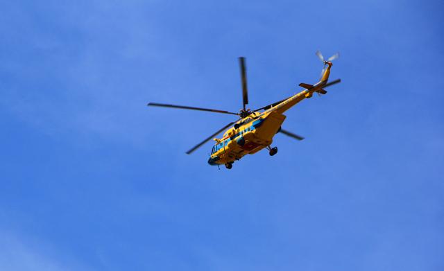 Máy bay trực thăng được huy động tham gia tìm kiếm cứu nạn