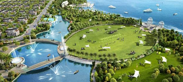 Khu đô thị Vinhomes Central Park sở hữu công viên ven sông Sài Gòn rộng 14 ha.