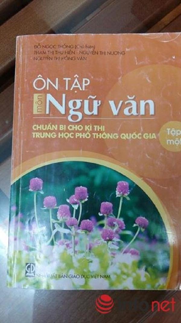 Cuốn Ôn tập môn Ngữ văn của NXB Giáo dục trích dẫn bài thơ của Lưu Quang Vũ theo nội dung đất cày. Ảnh: Infonet