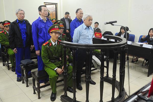 Nguyễn Đức Kiên tại tòa. Ảnh: HC