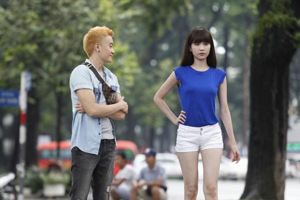 Lương Mạnh Hải, Ngọc Trinh trong một cảnh quay