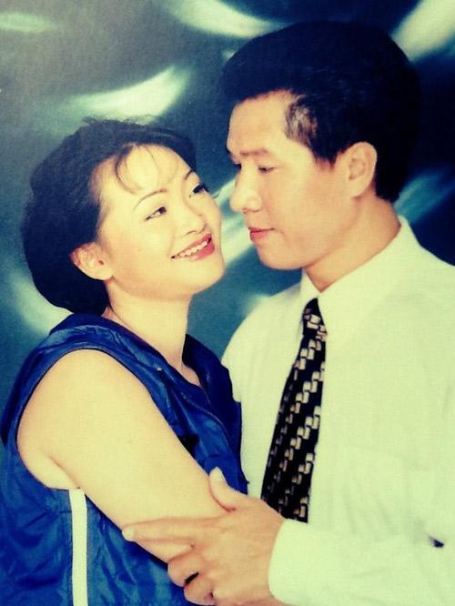 Vợ chồng nghệ sĩ hài Trà My khi còn bên nhau.