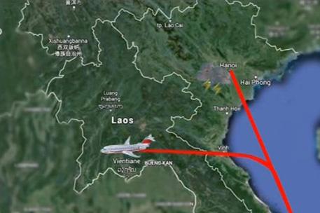 Chuyến bay VN168 của VNA từ Đà Nẵng đi Hà Nội vào chiều ngày 7/6 đã phải hạ cánh tại Viêng Chăn.