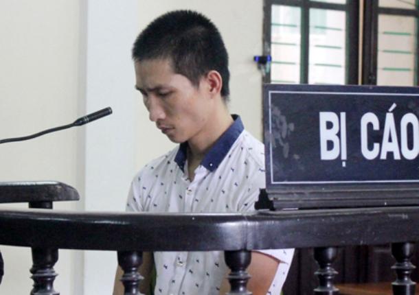 Bị cáo Đệ tại phiên tòa