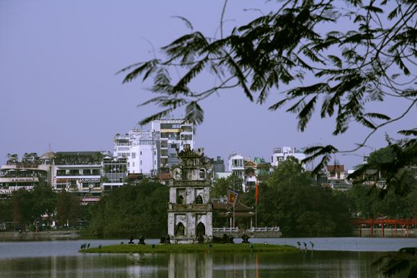 Quang cảnh Hà Nội trong xanh hơn
