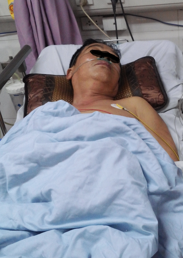 Bệnh nhân D đã được các bác sĩ khoa Nội tim mạch, Bệnh viện đa khoa Xanh Pôn cứu sống ngoạn mục chỉ trong một thời gian ngắn. Ảnh: BVCC