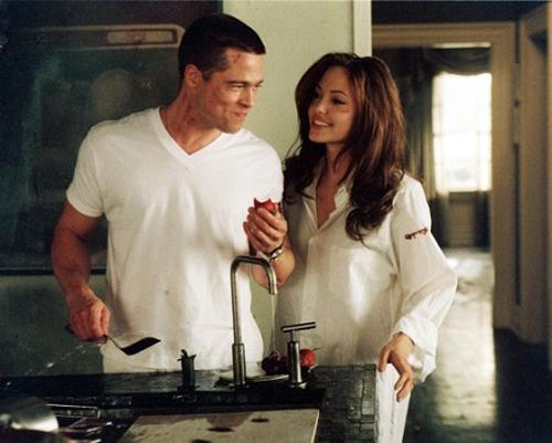Mr & Mrs Smith - Bộ phim hợp tác đầu tay của cặp đôi vàng.