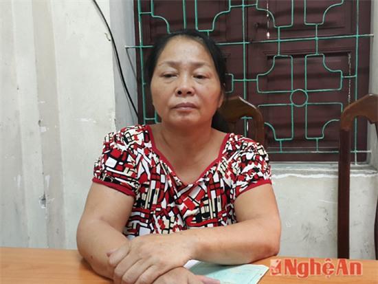 Đối tượng Tạ Thị Tuyết tại cơ quan điều tra.