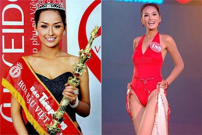 Mai Phương Thúy là thí sinh cao nhất tại Hoa hậu Việt Nam 2006. Ảnh: BTC