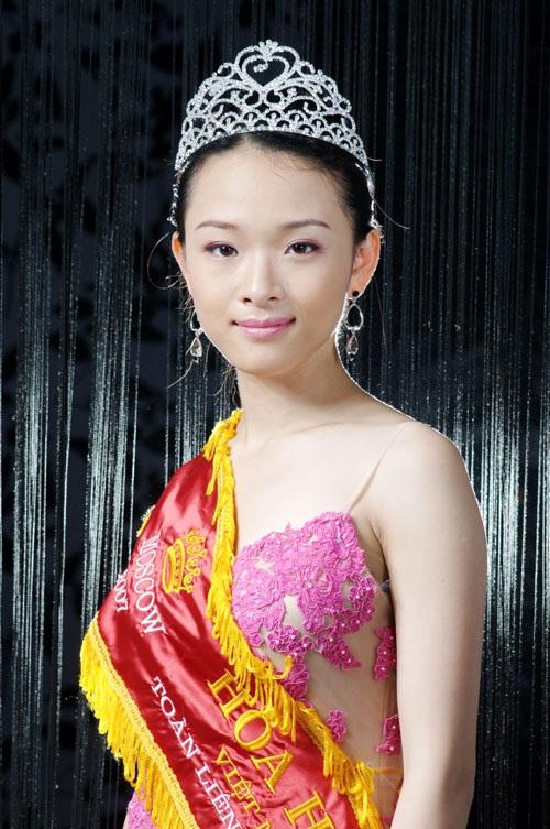 Trương Hồ Phương Nga khi đăng quang Hoa hậu người Việt tại Nga