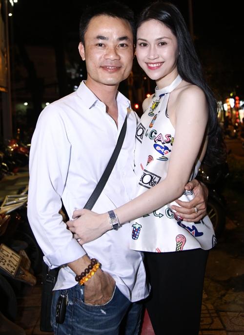 Thu Vũ và bạn trai trong lần đi xem đêm nhạc của ca sĩ Thanh Hà ở TP HCM.