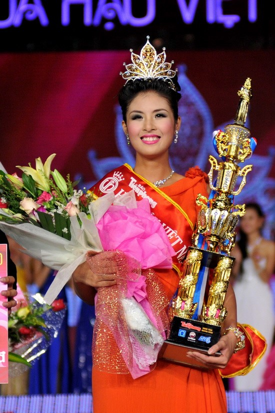 Ngọc Hân là một trong những Hoa hậu Việt Nam có thành tích học tập tốt nhất. Ảnh: BTC