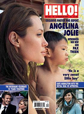 Tháng 3/2007, cặp đôi nhận nuôi một cậu bé người Việt, đặt tên bé là Pax Thiên Jolie-Pitt. Pax xuất hiện trên bìa tạp chí Hello! vài ngày sau khi cặp sao đưa bé về Mỹ.