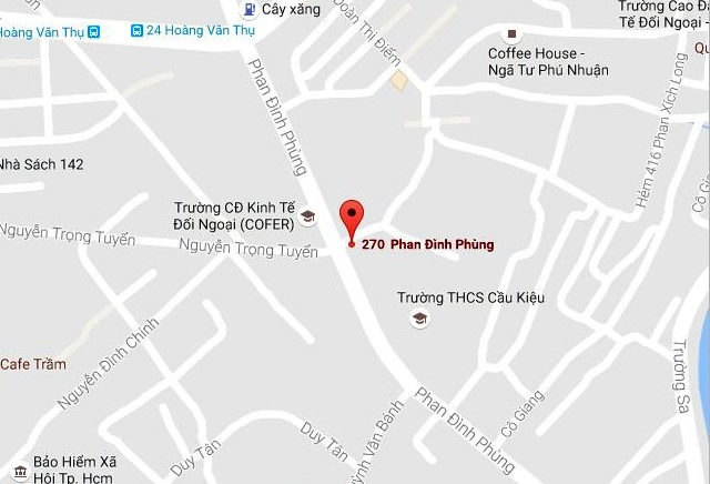 Vị trí gần nơi xảy ra tai nạn. Ảnh: Google Maps