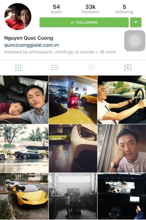Trên Instagram của doanh nhân Quốc Cường không còn hình ảnh nào liên quan đến Hạ Vi .