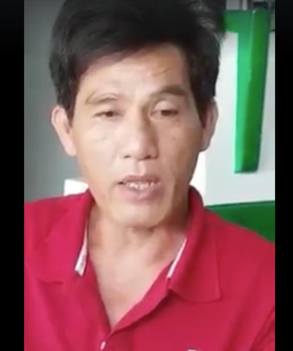 Anh Nguyễn Thanh Phong - tài xế, chủ xe khách trong vụ tai nạn hy hữu khi kể lại sự việc với báo chí.