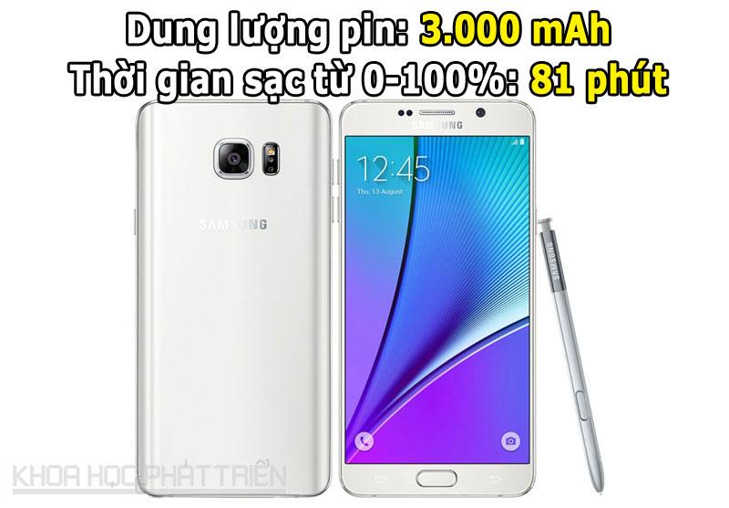 4. Samsung Galaxy Note 5 .