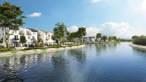 Hồ cảnh quan rộng 10ha mang đến một không gian khoáng đạt, trong lành trong lòng phố