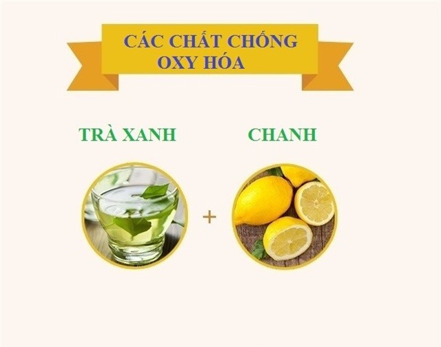 Nước chanh làm tăng lượng chất chống oxy hóa có lợi (catechin) trong trà xanh.
