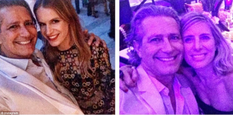 Đại sứ thương hiệu Valentino, ông Carlos Souza cùng nhà thiết kế đồ trang sức nổi tiếng Eugenie Niarchos (ảnh trái) và nhà từ thiện Jamie Tisch (ảnh phải).