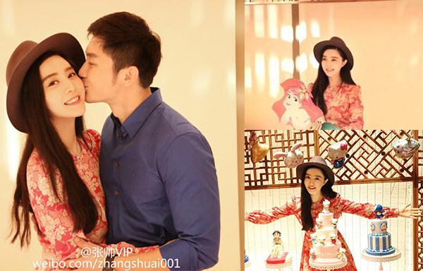 Sinh nhật 30 tuổi hạnh phúc của Phạm Băng Băng bên Lý Thần.
