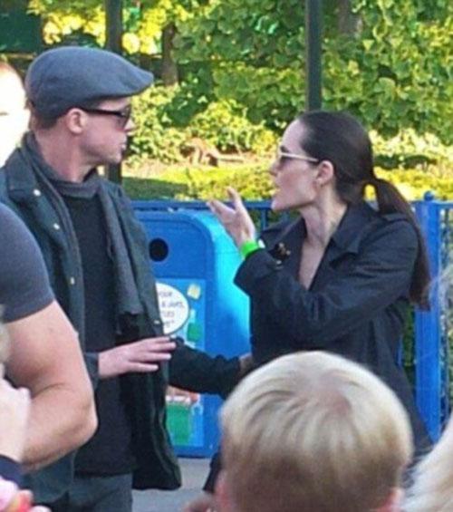 Một năm sau đó, tháng 10/2015, vợ chồng Jolie bị paparazzi chụp hình đang to tiếng với nhau trong công viên Legoland ở Anh. Loạt ảnh này gần đây mới được tiết lộ.