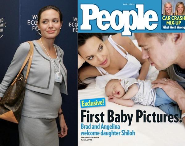 Con gái của họ chào đời vào ngày 27/5/2006, được đặt tên là Shiloh. Hình ảnh đầu tiên của bé được công bố trên tạp chí People vào tháng 6/2006.