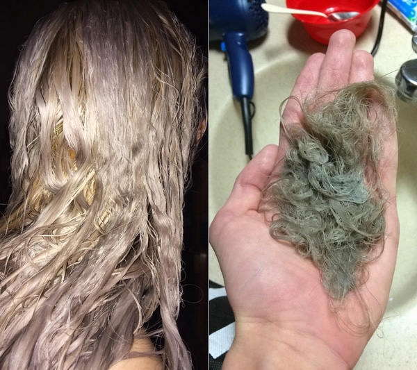 Nếu tẩy tóc quá nhiều sẽ khiến tóc yếu, dễ đứt gãy và ảnh hưởng đến da đầu. Ảnh TL