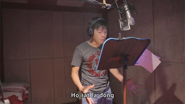 Thái Hòa rất nhập tâm vào vai diễn của nhân vật trong phim.