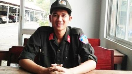 Chiến sĩ cảnh sát cơ động Nguyễn Thái Ngạn đã thực hiện được ước mơ đỗ vào trường công an.