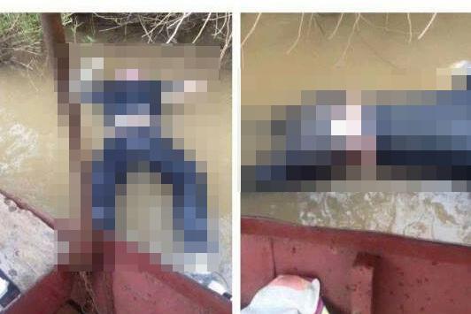 Hiện trường phát hiện thi thể nam giới dưới chân cầu Vĩnh Tuy. Ảnh: CTV