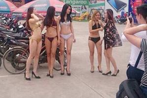 Có 5 người mẫu diện đồ lót nóng bỏng tham gia sự kiện này. Ảnh: Facebook KT