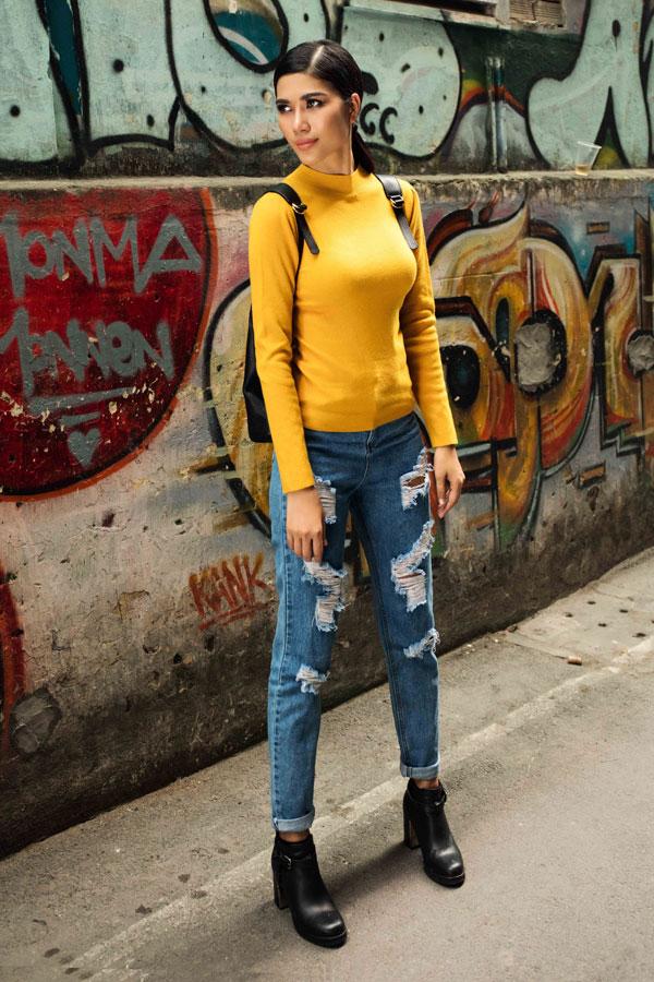 Cô tin tưởng vào gu thời trang của bản thân.