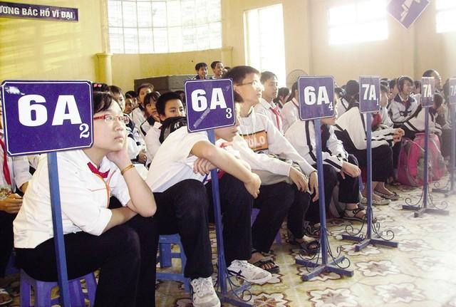 Hà Nội đảm bảo 100% học sinh lớp 1, lớp 6 được học trường công lập. Ảnh: T.Hằng
