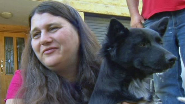 Chú chó Poppy trung thành đã đi theo bảo vệ cô chủ nhỏ Sophia