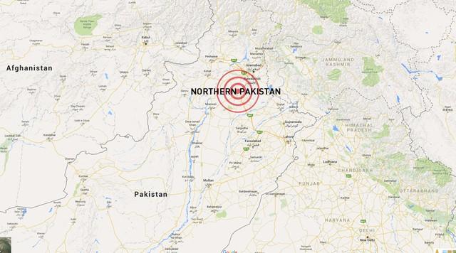 Trận động đất xảy ra khoảng 14h10 (giờ địa phương). Các tòa nhà ở thủ đô Islamabad của Pakistan rung lắc trong khoảng 2 phút. Người ta cũng nhận thấy độ rung lắc tại các tòa nhà ở Afghanistan và Ấn Độ.