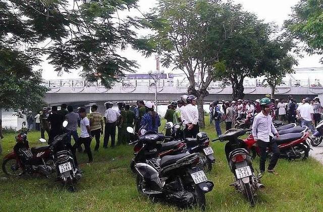Đoạn sông Hương qua chân cầu Dã Viên nơi phát hiện thi thể nạn nhân