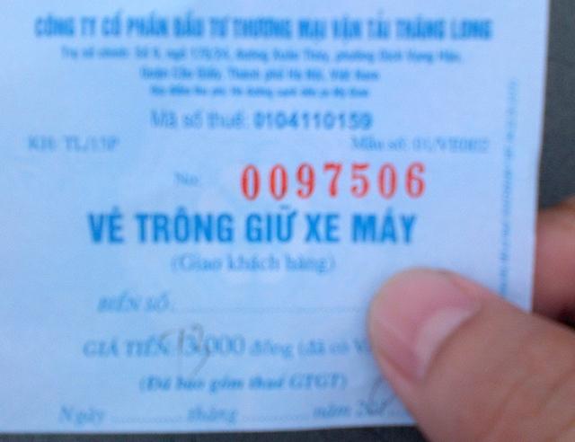 Hiếm khi người gửi xe được trả đúng với giá vé đã quy định