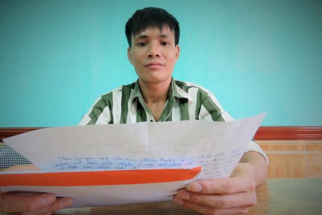 Phạm nhân Cao Văn Giang với ý tưởng mua, quyên góp 1.000 cuốn sách. Ảnh: Việt Nguyễn